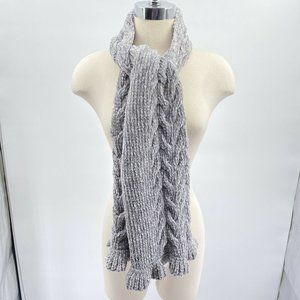 Charter Club Chenille scarf NWT One size heather g